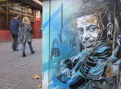 Página sobre arte urbano, stencil, wheat-paste, con noticias e imágenes de los mejores artistas del mundo: Banksy, Aryz, Obey, C215, Alicé...