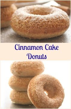 Cinnamon Cake Donuts, fast, easy and delicious, a perfect breakfast, snack or dessert recipe. Soft homemade baked cake donuts. via @https://it.pinterest.com/Italianinkitchn/