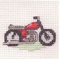 Red Motorbike Cross Stitch Kit: Cross stitch (Mouseloft, 004-G08stl)