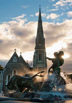 Copenhagen - Denmark The Gefion fountain.