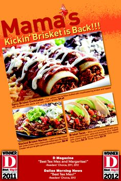Mama's Kickin Brisket is Back! Limited Time Only! Come in TODAY!