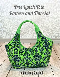 Lunch Tote from The Stitching Scientist