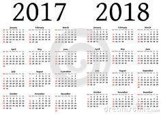 Calendario para 2017 y 2018