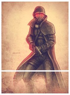 The game was rigged from the start  Art by velocitti.  fallout fallout new vegas fnv twitter ncr