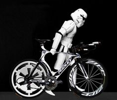 A #StormTrooper's gotta do what a StormTrooper's gotta do! #BikeToWork #StarWars