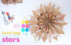 How to Make Paper Stars From Lunch Bags - Babble Dabble Do
