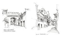 Sketching in Trastevere, Rome.