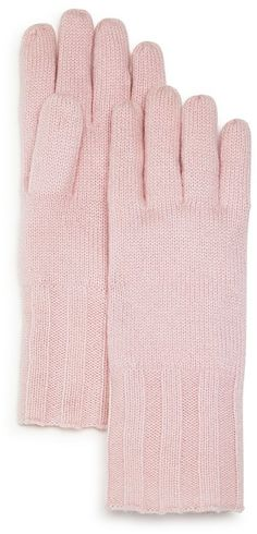 C by Bloomingdale's Pink Ribbed Cashmere Gloves (commission link) #pink #gloves #cashmere #style #fashion #accessories #shopping #gifts #giftsforher #winterwear