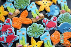 BZ Bees Sweet Treats:  Under the Sea  theme cookies.  Amazing set!!!  Look at that #1. ♡