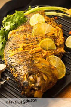 wonderkitchen: Whole Tilapia – two ways - Baked and stove top Tilapia Recipe Oven, Whole Tilapia Recipes, Talapia Recipes Baked, Grilled Fish Recipes, Salmon Recipes, Fish Dishes, Seafood Dishes, Seafood Recipes, Indian Food Recipes