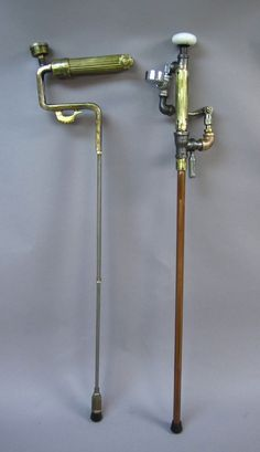 Steampunk for all ages! A steampunk cane would be really fun. If I ever need a cane, this will be what I use.