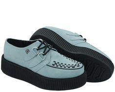 Baby Blue Suede Viva Mondo Creepers | T.U.K. Shoes  http://www.tukshoes.com/baby-blue-suede-viva-mondo-creepers