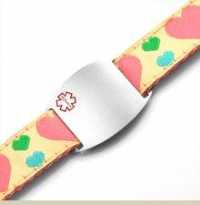 Kids Medical Alert ID Bracelet Hearts