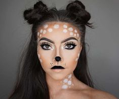 Are you looking for inspiration for your Halloween make-up? Browse around this website for unique Halloween makeup looks. Unique Halloween Makeup, Pretty Halloween, Unique Makeup, Halloween 2019, Couple Halloween, Gorgeous Makeup, Deer Halloween Costumes, Turtle Costumes, Teen Costumes