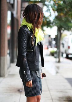 Great outfit. I love the juxtaposition of feminine and edgy, and the hair is pitch perfect.