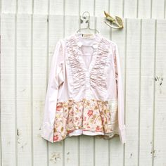 upcycled clothing / romantic cropped shirt   wearable by CreoleSha