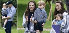 The Duke and Duchess of Cambridge don matching blue for a family day out