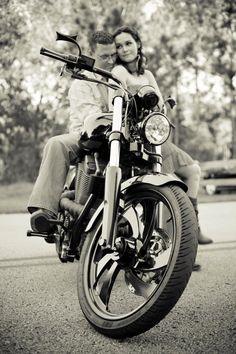 Motorcycle guy-Engagement Photo by Amber Malia Photography