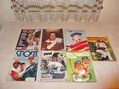 Lot of 7 Vintage Sports Magazines Paper Ephemera Vintage Advertising Sports Nuts