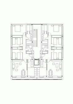 Social Housing / Burgos Garrido arquitectos - could be small apartments or larger dorm rooms ??