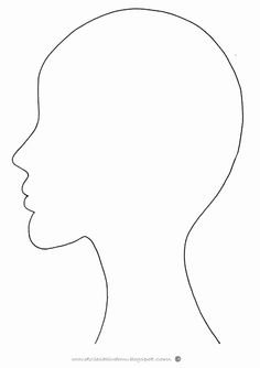 Human head pattern use the printable outline for crafts for Headshot border template
