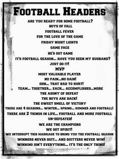 Football Title Pages www.creativememor… Football Title Pages www. Scrapbook Quotes, Scrapbook Titles, Scrapbook Journal, Scrapbook Page Layouts, Scrapbook Cards, School Scrapbook, Kids Scrapbook, Yearbook Pages, Yearbook Ideas