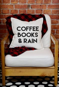 Coffee Books & Rain Pillow