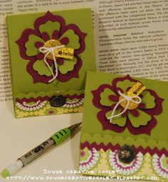 Dawn's Creative Chalet - Paper Crafting & More: Pretty Matchbooks!