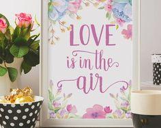 Poster Aquarela Frase Amor