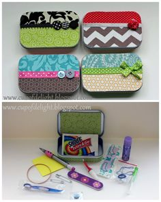 Great ideas for mini gifts & handy kits. From: True Blue Me & You: DIYs for Creative People : Photo