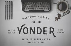 Yonder - Hand Drawn Font by Hustle Supply Co. on Creative Market