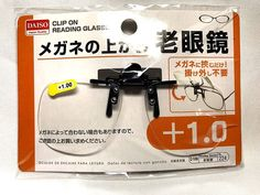 DAISO JAPAN Clip on Flip up Magnifying Reading Eye Glasses japanese +1.0 F/S #DaisoJapan