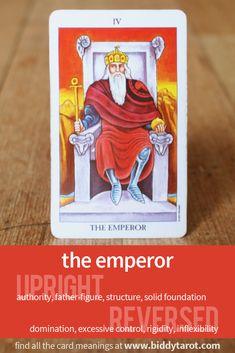 "Major Arcana Card ""The Emperor"" #tarotcardmeaning learn more at http://www.biddytarot.com/tarot-card-meanings/major-arcana/emperor/"