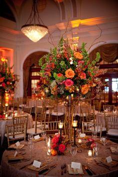 Elegant Fall Centerpiece Wedding Flowers Photos & Pictures - WeddingWire.com