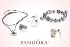 PANDORA Jewelry Cherry Blossom Necklace Love!