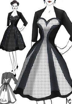 Retro Swing Shadow Dress  by Amber Middaugh