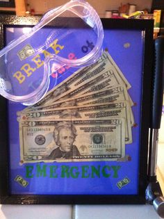 Money Gifts ~ Emergency Money Frame