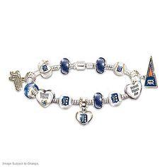 Bracelet: Go Detroit Tigers! #1 Fan Charm Bracelet