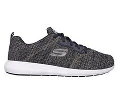 Skechers Men's Kulow Numerator Memory Foam Lace Up Jogger Shoes (Navy/Navy)