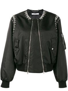 GIVENCHY Rhinestone Embellished Bomber Jacket. #givenchy #cloth #jacket