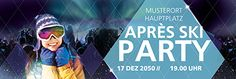 Noch heute Ihre Werbebanner im Webshop von onlineprintXXL bestellen. #apres #ski #party #werbebanner #werbeplane #snow #vorlagen Apres Ski Party, Skiing, Advertising, Promotional Banners, Templates, Ski