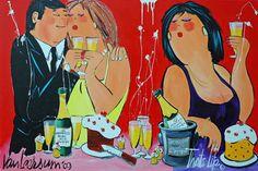 Een ander voorbeeld van het werk van El van Leersum, die inspiratie opdeed van de Colombiaanse kunstenaar Botero.
