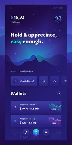 Crypto app UI – Design is art Ios App Design, Mobile Ui Design, Android App Design, Interface Web, User Interface Design, Design Responsive, Mobile App Ui, Ui Design Inspiration, Screen Design