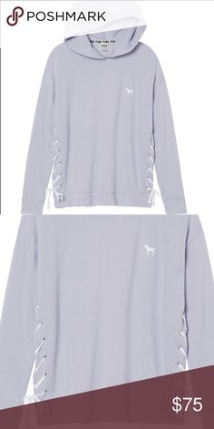"""🍍RESERVED 4 EMMA NWT Size XS OVERSIZED SOLD OUT ⛔️I will ignore any """"lowest?"""" comments ⛔️PRICE FIRM ⛔️NO TRADE ⛔️SMART REMARKS WILL GET YOURSELF BLOCKED IN MY CLOSET ✅$50 VINTED PINK Victoria's Secret Tops Sweatshirts & Hoodies"""