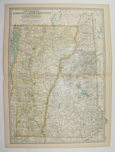 Vintage Iowa Map Antique IA Map Iowa Gift For Her St - Vintage iowa map