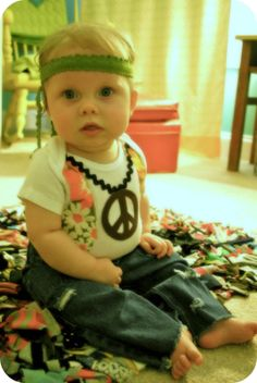 Hippy Baby Costume Tutorial - little late for this year, but definitely next year