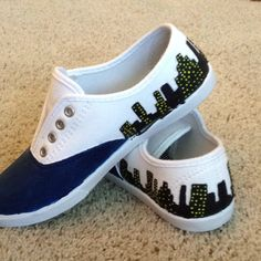 So cute:) hand painted shoes!