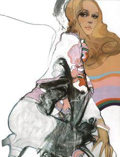 Vintage '70s Vogue Illustration