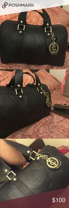 Juicy Couture Leather Bag Black juicy bag leather Juicy Couture Bags Satchels