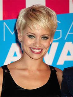 Short Haircuts for Heart Shaped Faces: Fringed Pixie Cut, Kimberly Wyatt